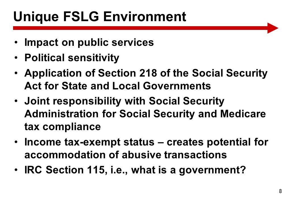 Unique FSLG Environment