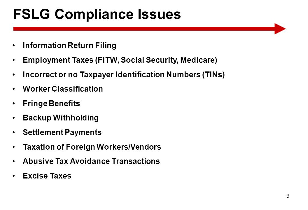 FSLG Compliance Issues