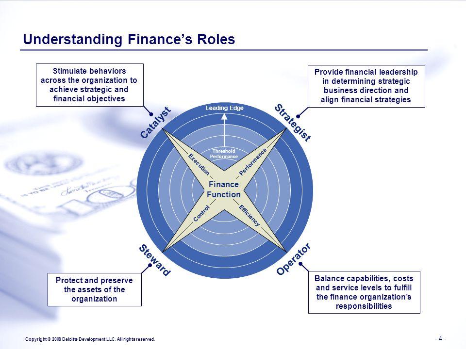 Understanding Finance's Roles