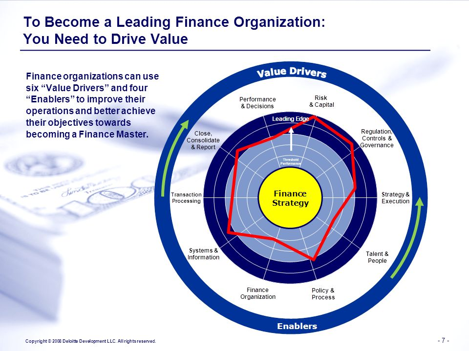 To Become a Leading Finance Organization: You Need to Drive Value