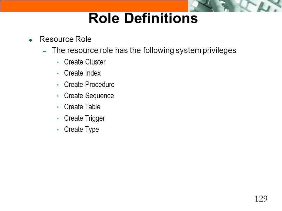 Role Definitions Resource Role