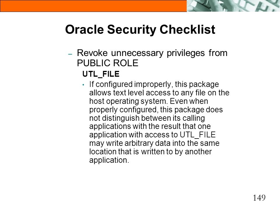 Oracle Security Checklist