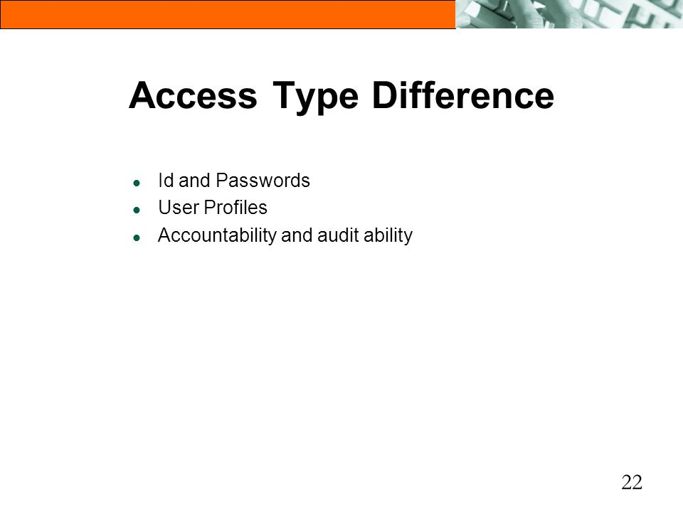 Access Type Difference
