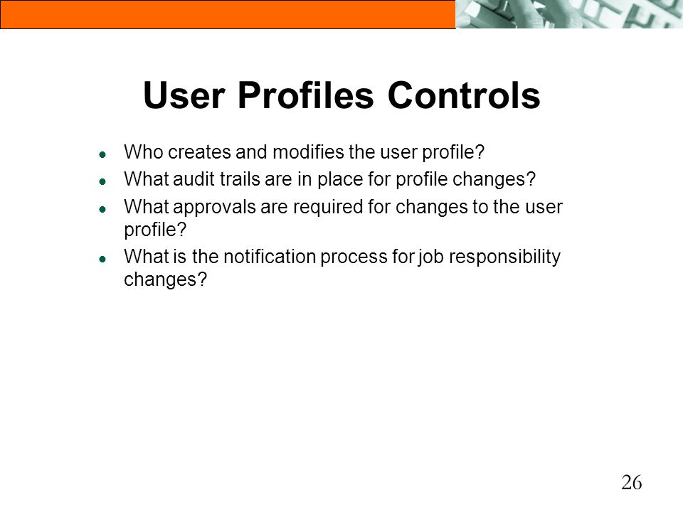 User Profiles Controls