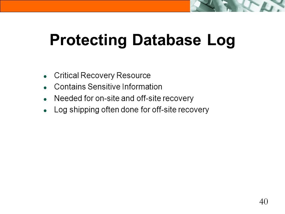Protecting Database Log