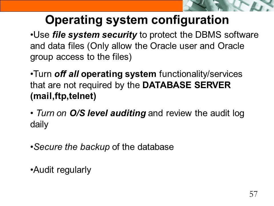 Operating system configuration