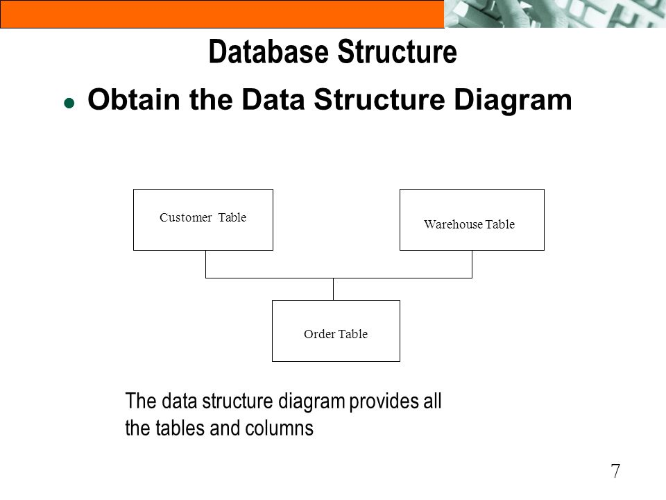Database Structure Obtain the Data Structure Diagram