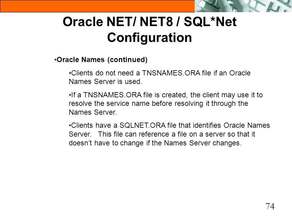 Oracle NET/ NET8 / SQL*Net