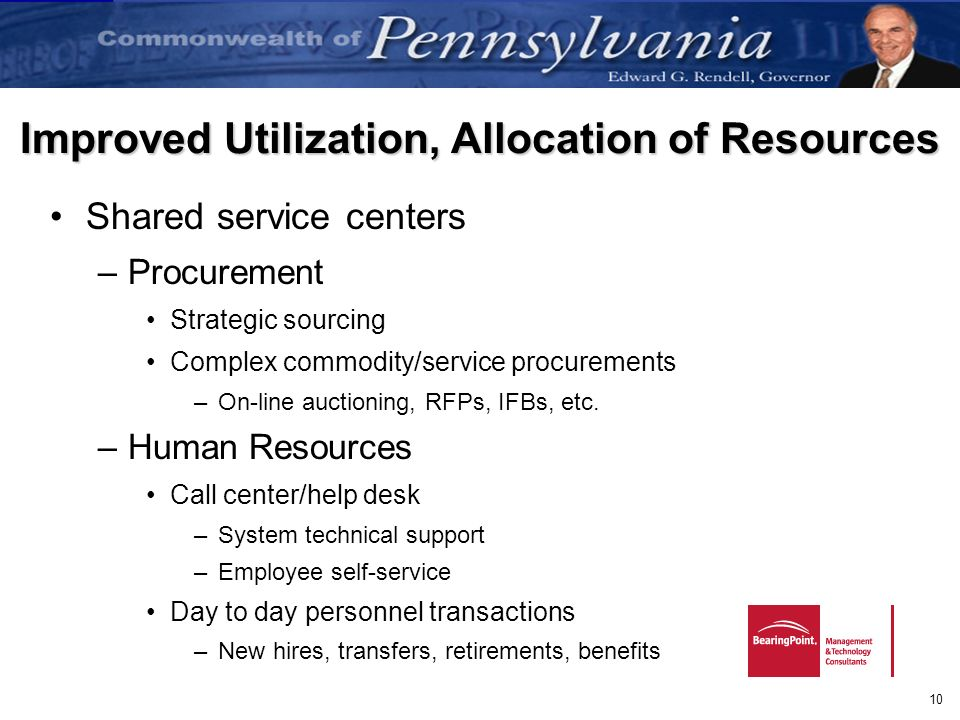 Improved Utilization, Allocation of Resources