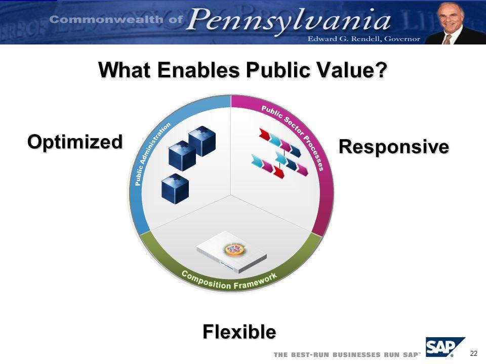 What Enables Public Value
