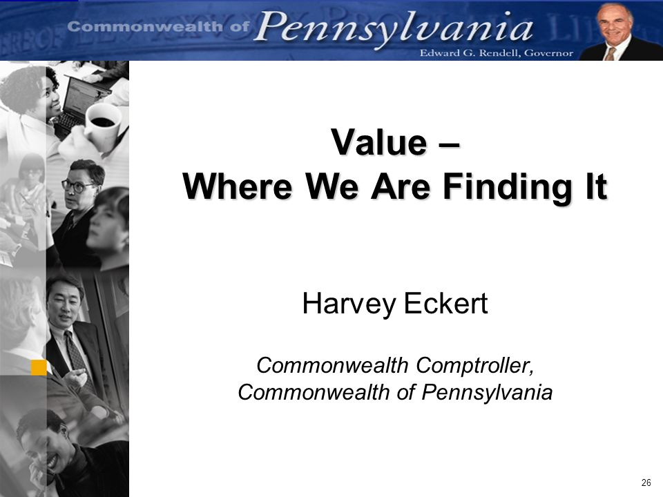 Value – Where We Are Finding It