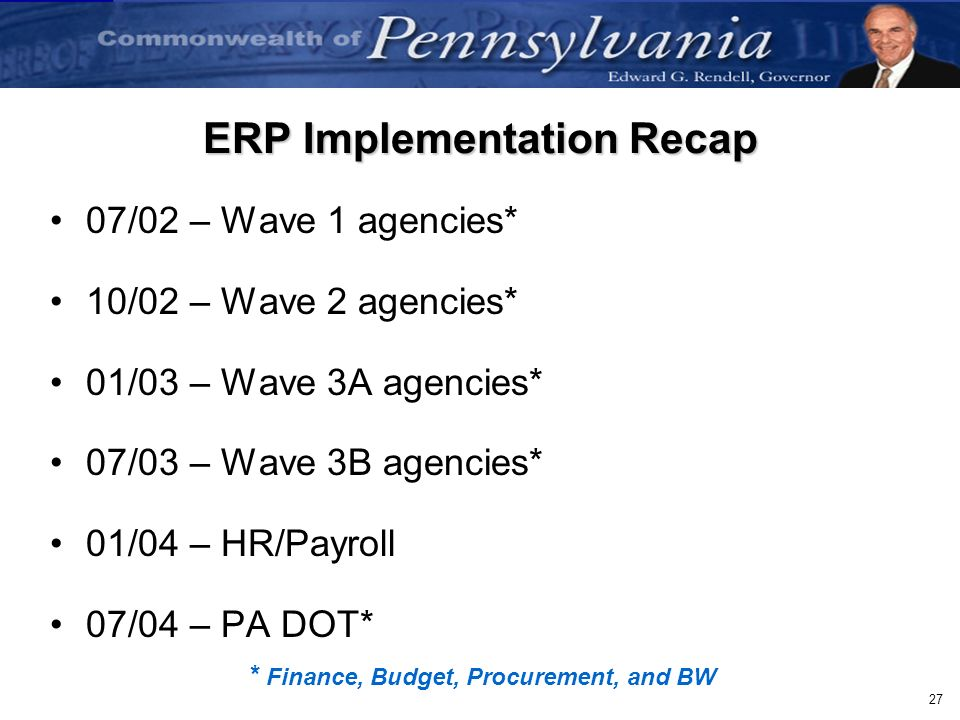 ERP Implementation Recap