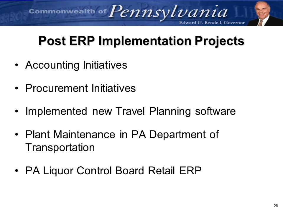 Post ERP Implementation Projects