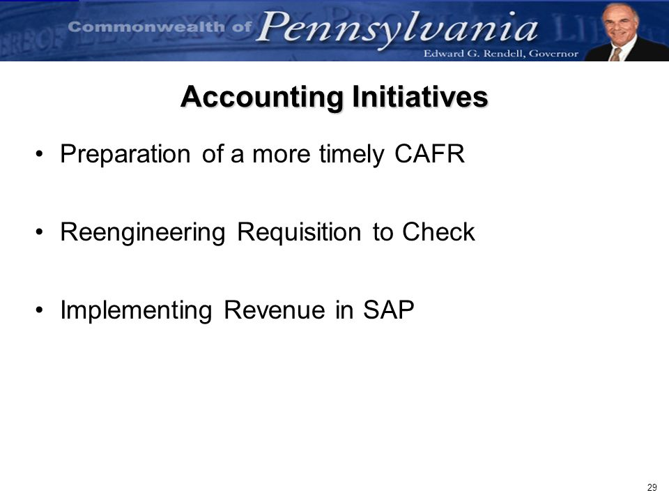 Accounting Initiatives
