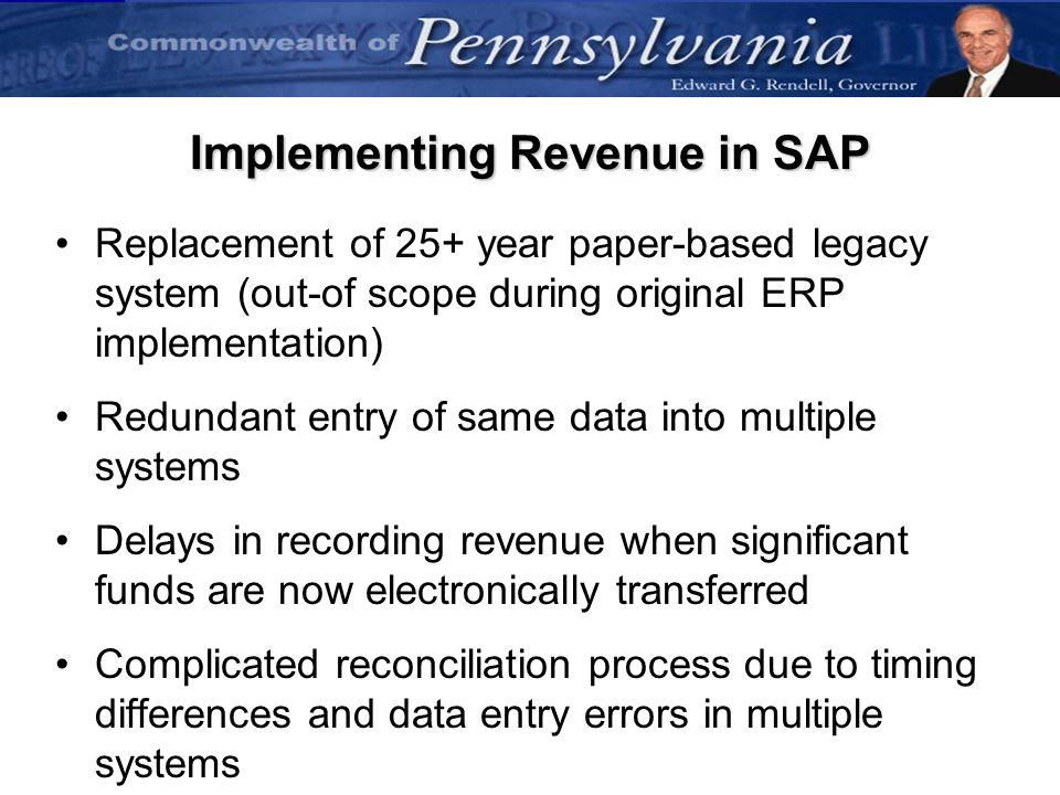 Implementing Revenue in SAP