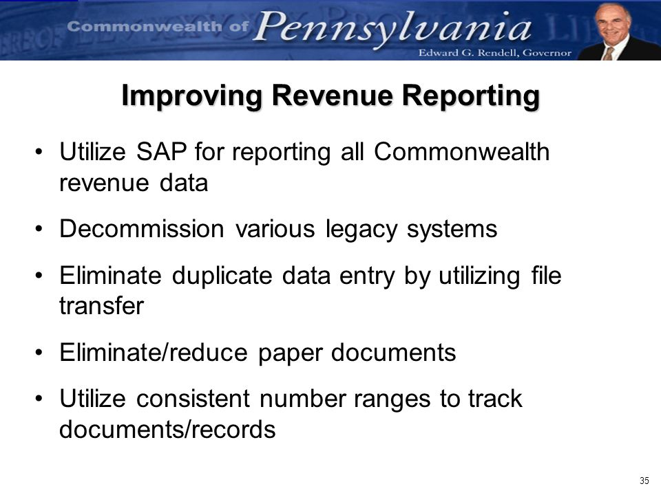 Improving Revenue Reporting