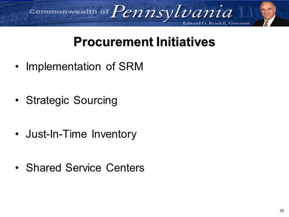 Procurement Initiatives