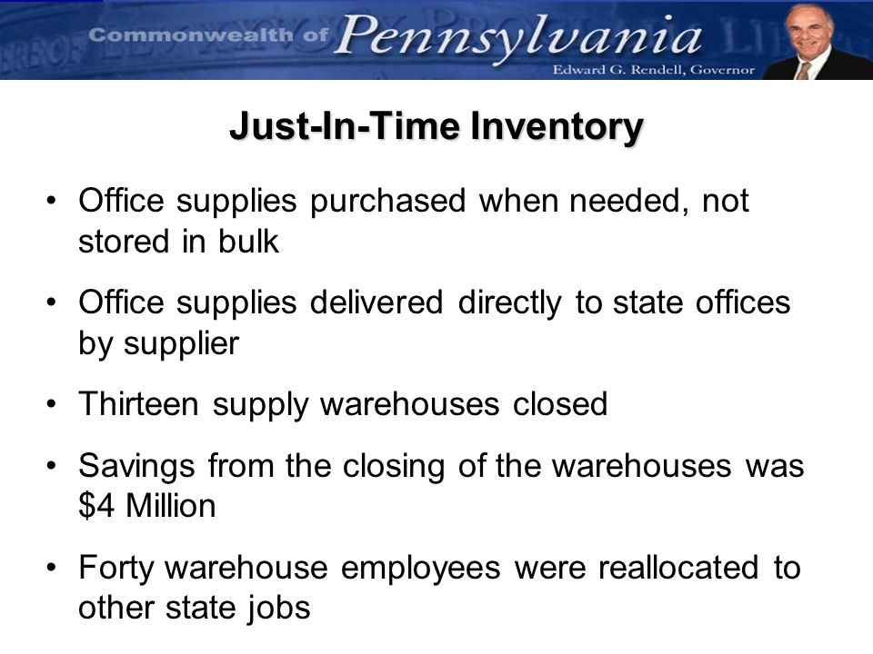 Just-In-Time Inventory