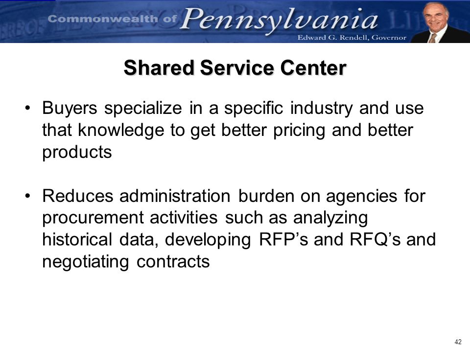 Shared Service Center Buyers specialize in a specific industry and use that knowledge to get better pricing and better products.