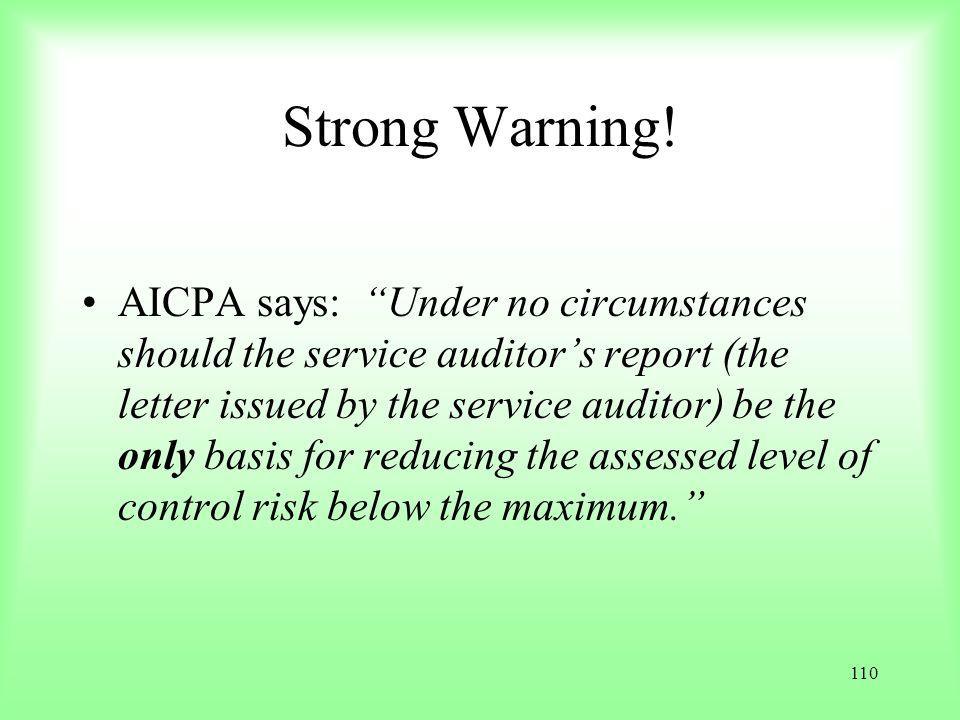 Strong Warning!