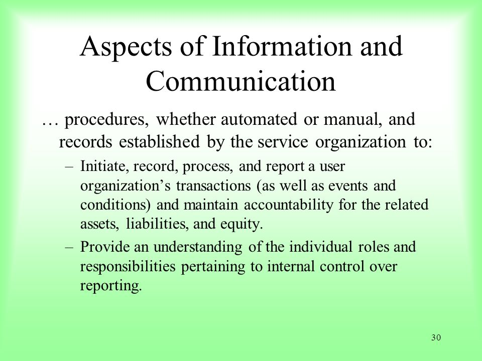 Aspects of Information and Communication