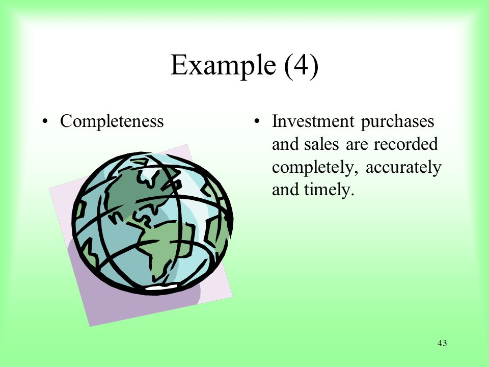 Example (4) Completeness