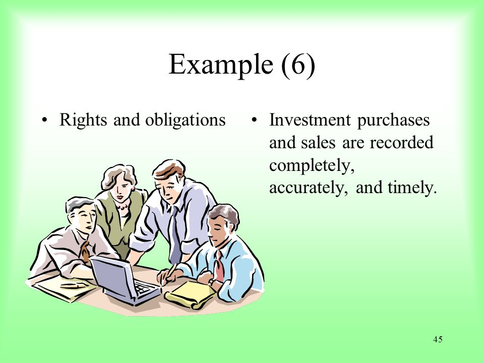 Example (6) Rights and obligations