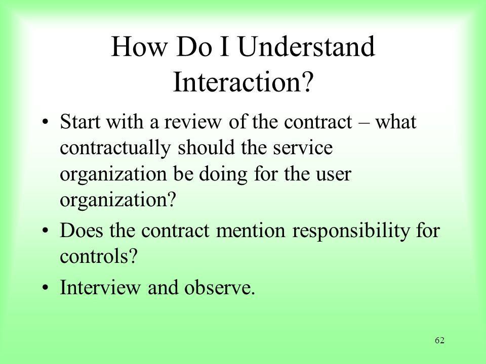 How Do I Understand Interaction