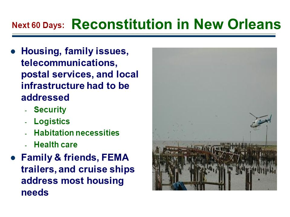 Reconstitution in New Orleans