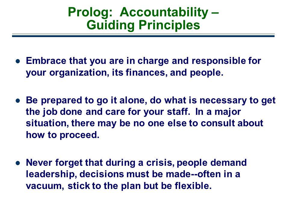 Prolog: Accountability – Guiding Principles