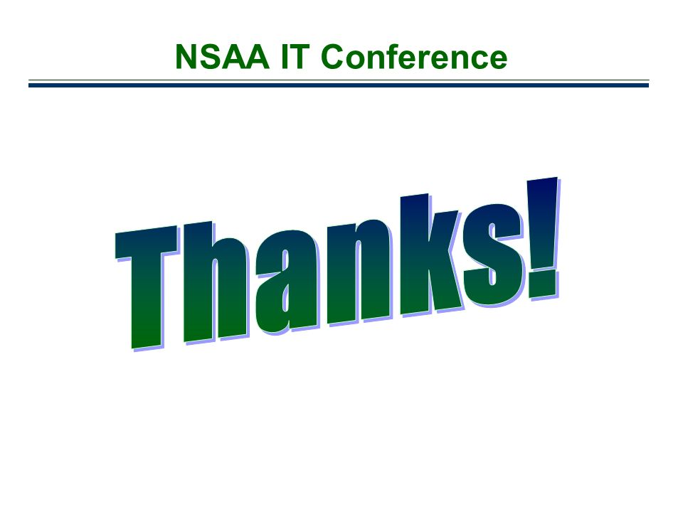 NSAA IT Conference Thanks!