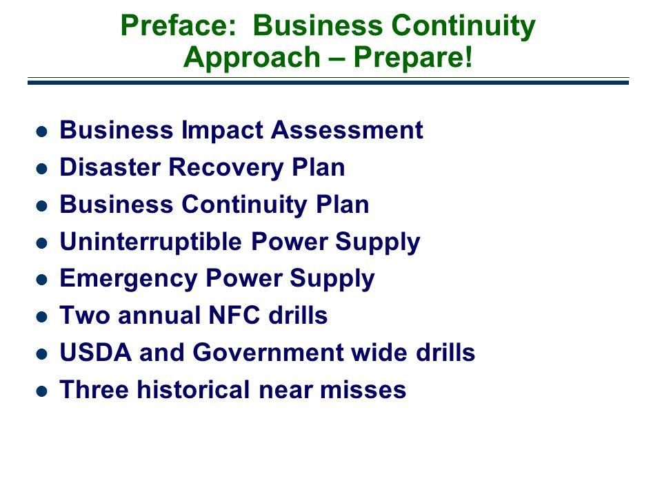Preface: Business Continuity Approach – Prepare!