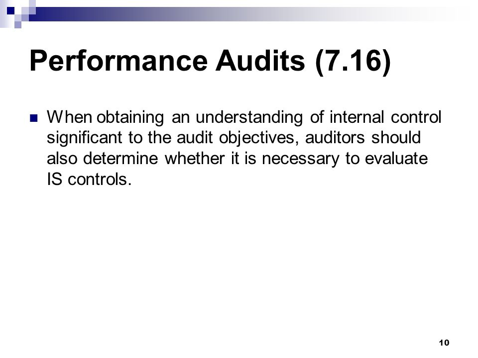 Performance Audits (7.16)
