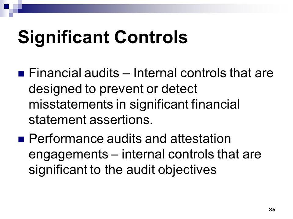 Significant Controls