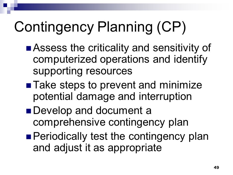 Contingency Planning (CP)