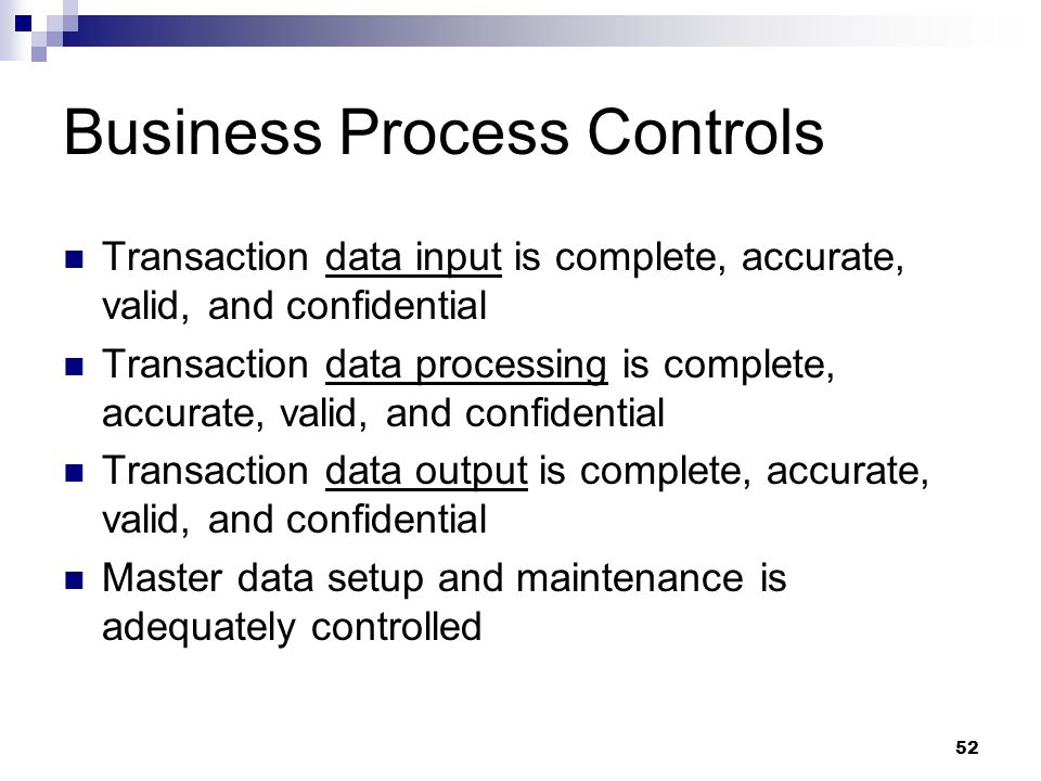 Business Process Controls