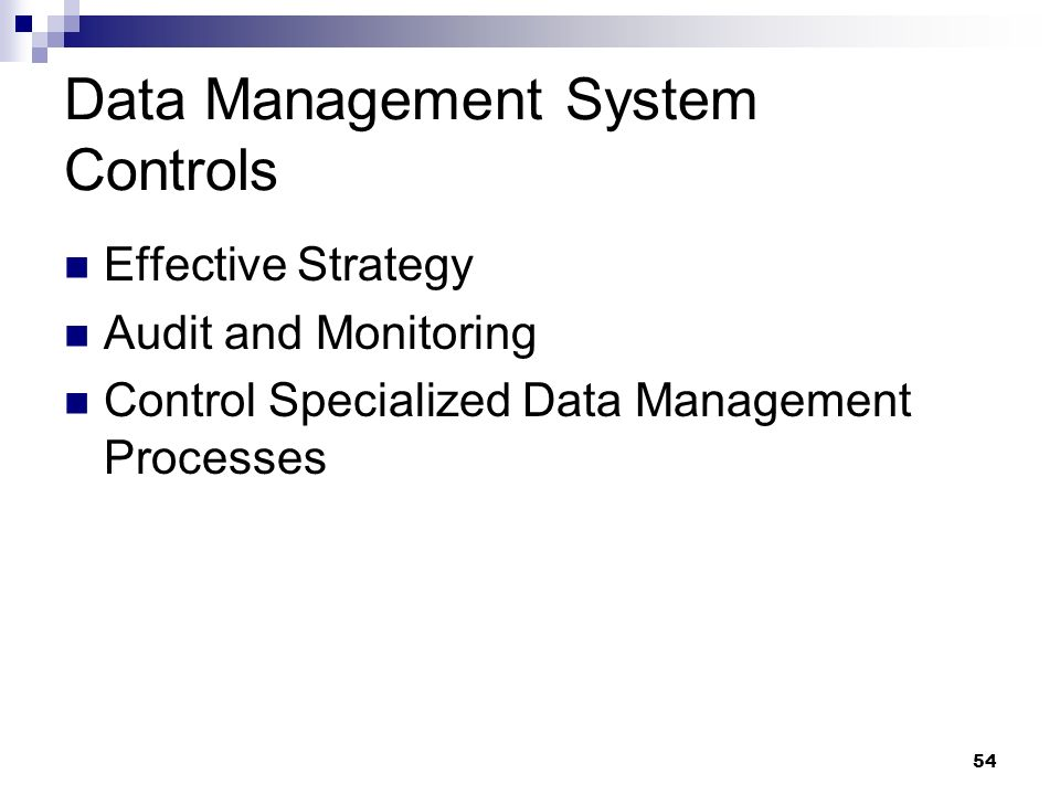 Data Management System Controls