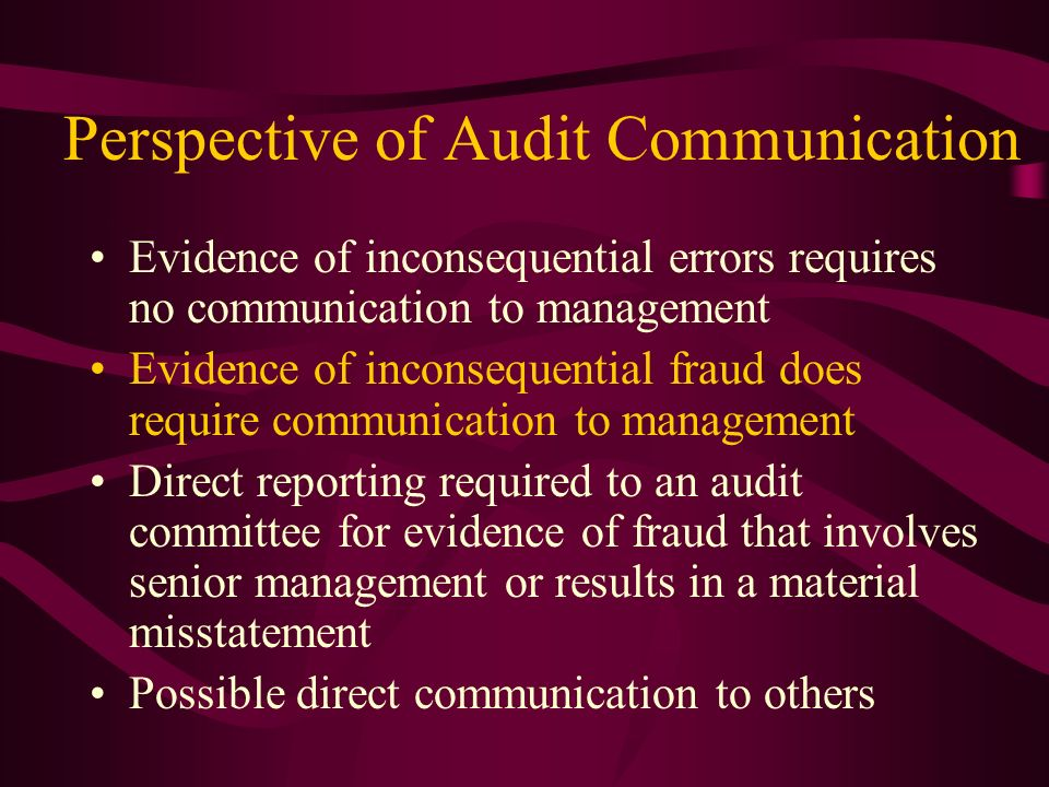 Perspective of Audit Communication