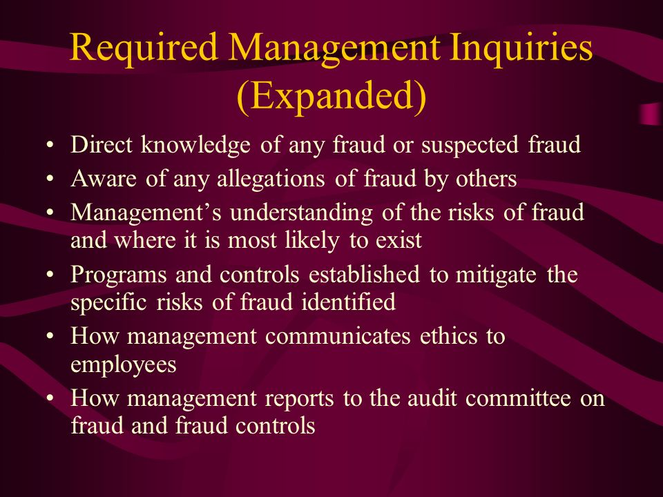 Required Management Inquiries (Expanded)