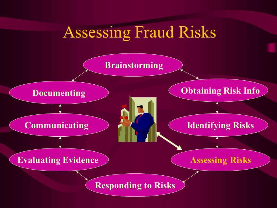 Assessing Fraud Risks Brainstorming Obtaining Risk Info Documenting