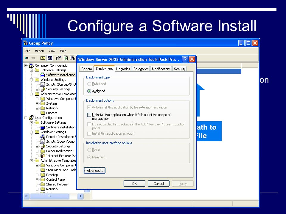 Configure a Software Install Policy