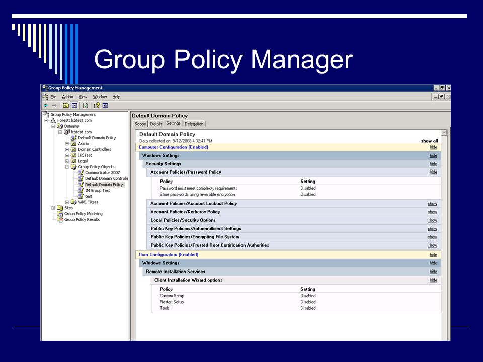 Group Policy Manager