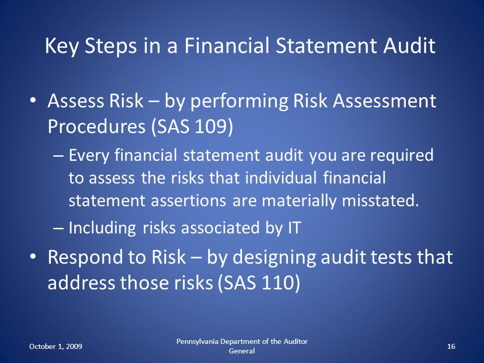 Key Steps in a Financial Statement Audit