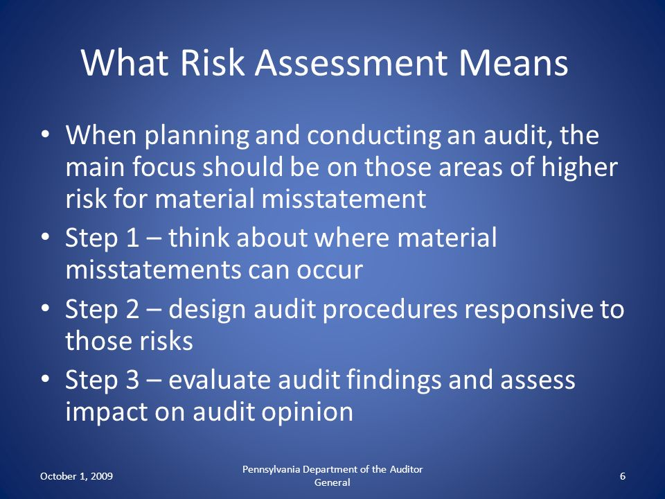 What Risk Assessment Means