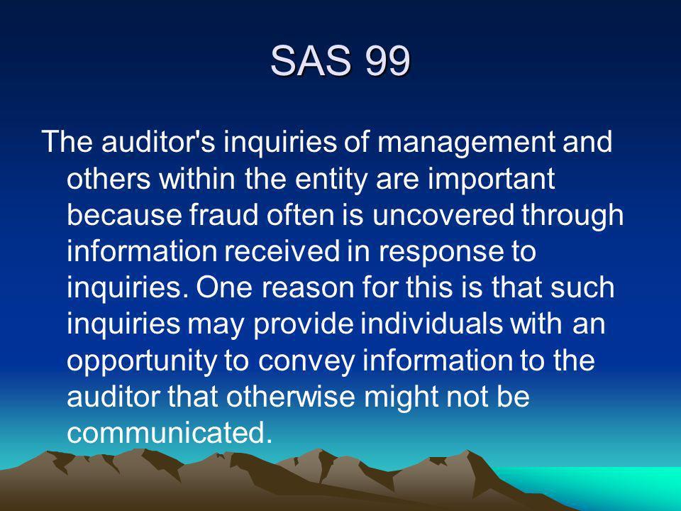 SAS 99