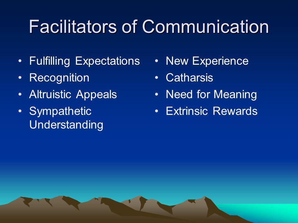 Facilitators of Communication