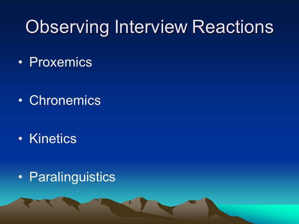 Observing Interview Reactions