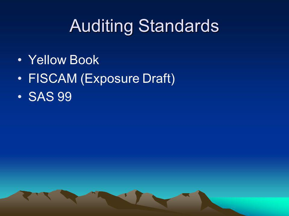 Auditing Standards Yellow Book FISCAM (Exposure Draft) SAS 99