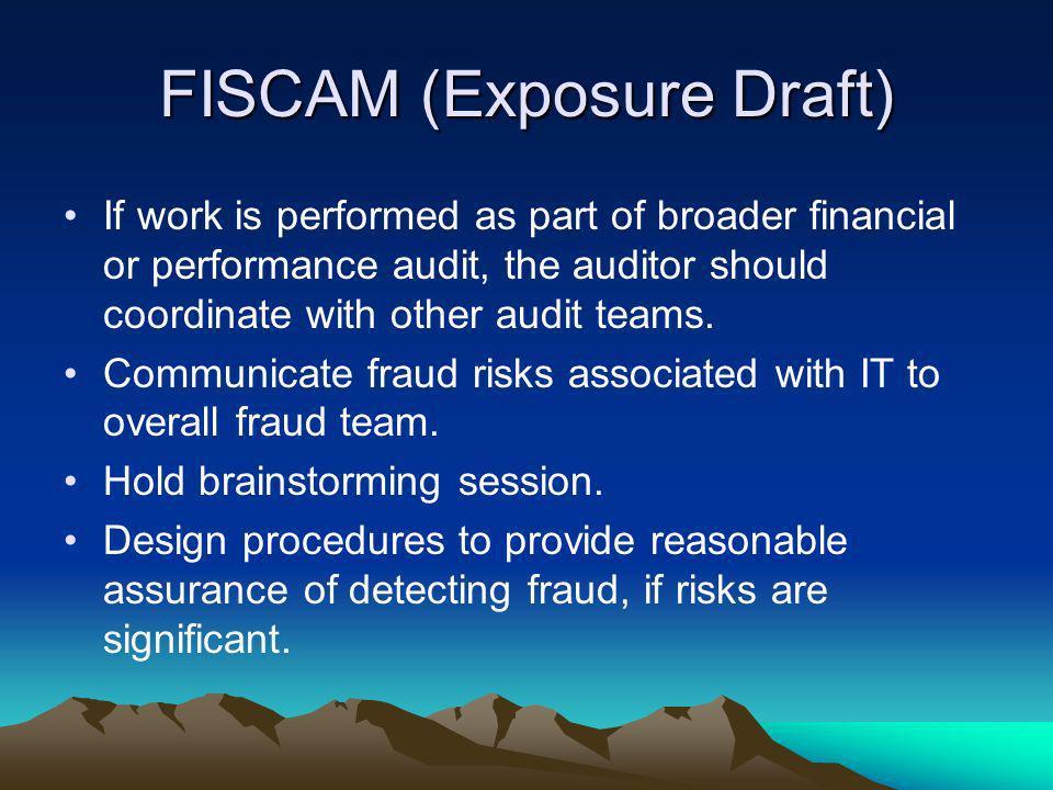 FISCAM (Exposure Draft)