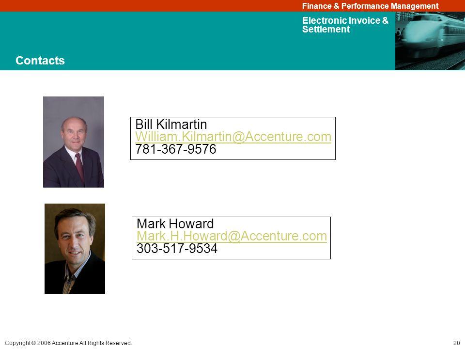 Bill Kilmartin William.Kilmartin@Accenture.com 781-367-9576